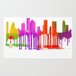 Houston, Texas skyline Puddles Rug
