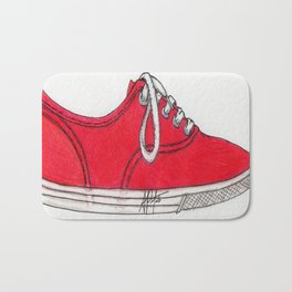 Red Shoe. Bath Mat