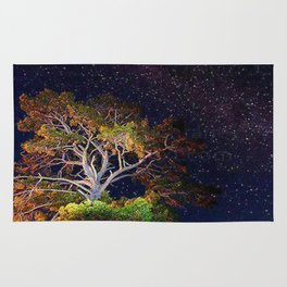 Stars and A Tree Rug
