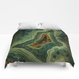 The world of gems - green agate Comforters