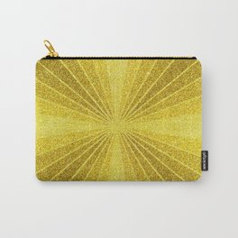Geometric gold glitter mosaic, diagonal sun rays, gold abstract sparkles Carry-All Pouch