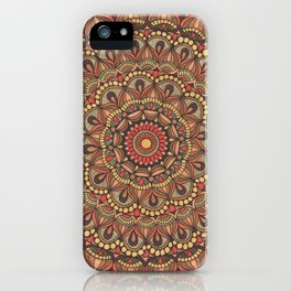 Rich Brown Arabian Pattern iPhone Case