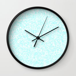 Tiny Spots - White and Celeste Cyan Wall Clock