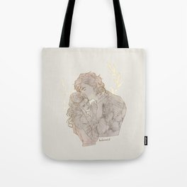 angelic eyes, unearthly lips Tote Bag