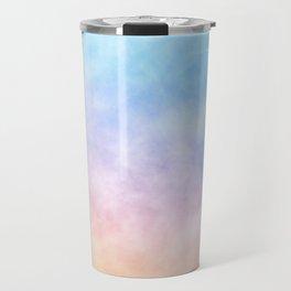 Pastel Rainbow Watercolor Clouds Travel Mug