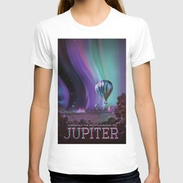 NASA Retro Space Travel Poster #7 Juniper T-shirt