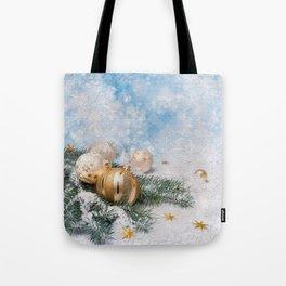 Gold Blue Ornaments Tote Bag