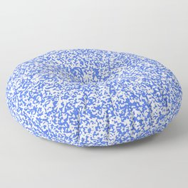 Tiny Spots - White and Royal Blue Floor Pillow