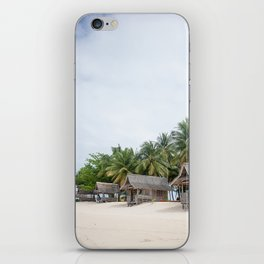 Huts on Siargao Island iPhone Skin