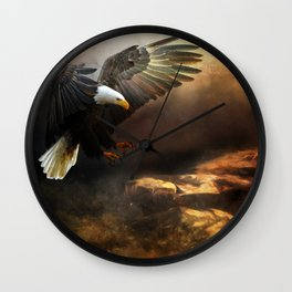 The Eagle Is Landing Wall Clock