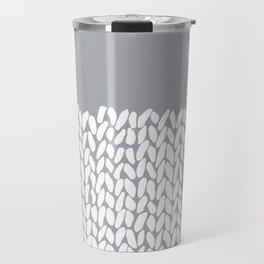 Half Knit Grey Travel Mug