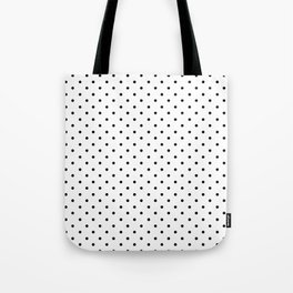 Template tote bags society6 minimal small black polka dots on white mix match with simplicty of life maxwellsz