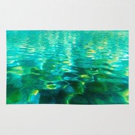Blue Green Water Rug