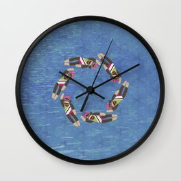Sock Monkey Water Ballet Vertical Wall Clock