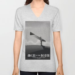 Angel of the North,Gateshead, Tyne and Wear, England black and white. Unisex V-Neck