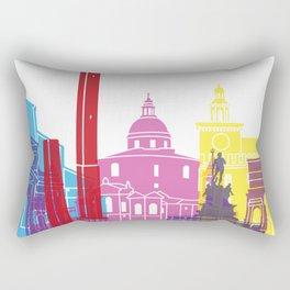 Bologna skyline pop Rectangular Pillow