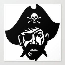 Captain Kidd II (The Rude Pirate) Canvas Print
