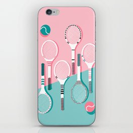 Got Served - tennis country club sports athlete retro throwback memphis 1980s style neon palm spring iPhone Skin