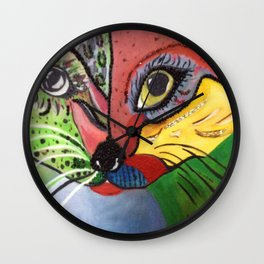 Beaded Cat Wall Clock