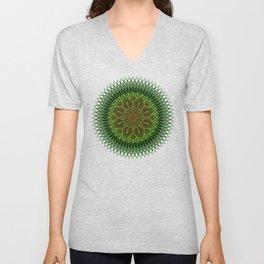 Earth Flower Mandala Unisex V-Neck