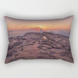 Volcanic Sunset in Ocean Beach, San Diego Rectangular Pillow