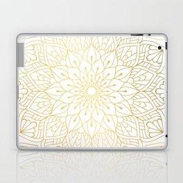 The Golden Mandala Illustration Pattern Laptop & iPad Skin