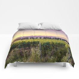 grapevine field Comforters