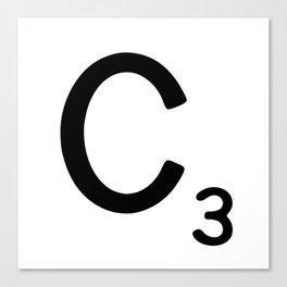 Letter C - Custom Scrabble Letter Wall Art - Scrabble C Canvas Print
