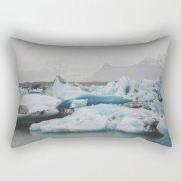 A Sea of Ice Rectangular Pillow