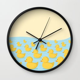 Rubber Duckie Army Wall Clock