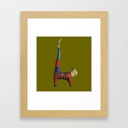 multicolored cat Framed Art Print