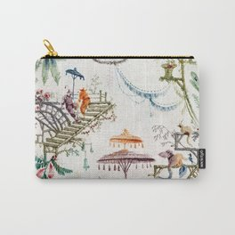 Enchanted Forest Chinoiserie Carry-All Pouch