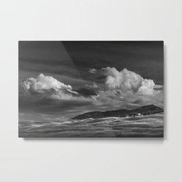 Billowing Clouds over Mountains and Hills near Gardiner Montana Metal Print