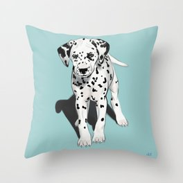 Dalmatian Puppy Throw Pillow