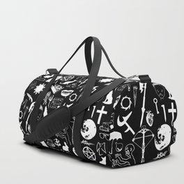 Buffy Symbology, White Duffle Bag