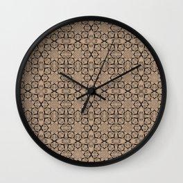 Hazelnut Geometric Wall Clock