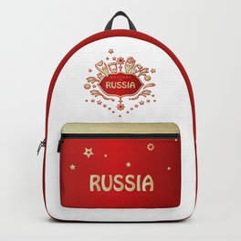"""Russia remembrance gift """"Welcome"""" invitation design travel Backpack"""
