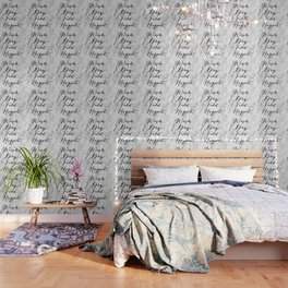 Wash dry fold repeat marble laundry print Wallpaper