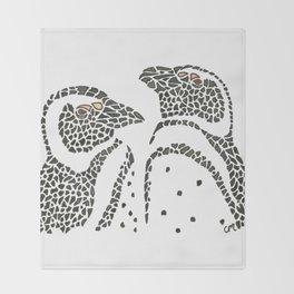 Vanishing Penguins by Black Dwarf Designs Throw Blanket