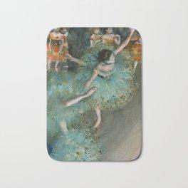Degas - Swaying Dancer (Dancer in Green) Bath Mat