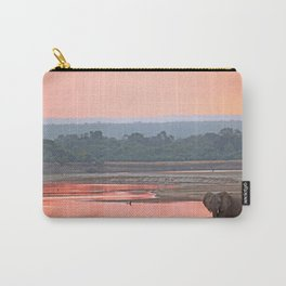 Walk in the evening light, Africa wildlife Carry-All Pouch