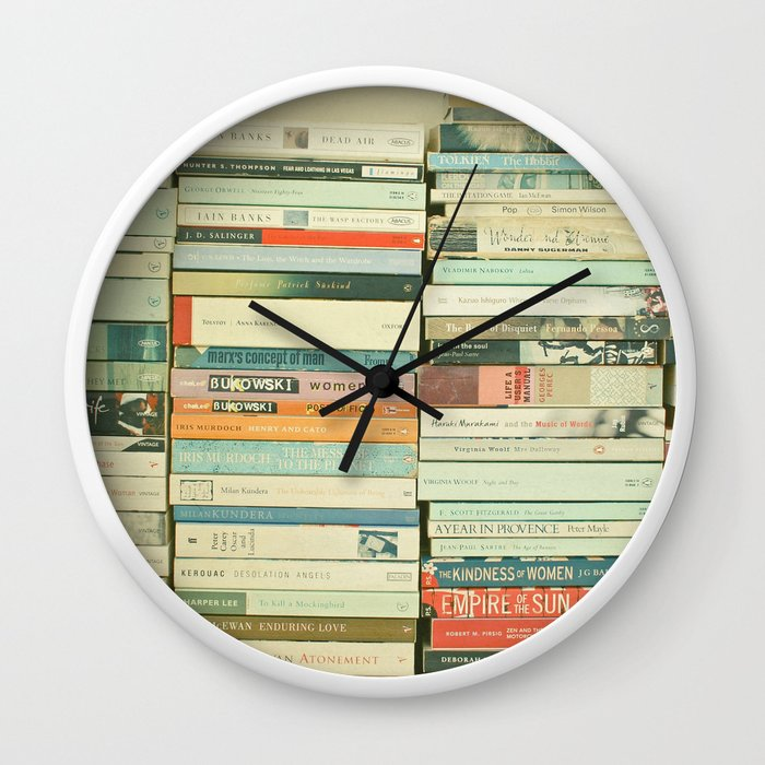 Bookworm wall clock by cassiabeck society6 ccuart Choice Image