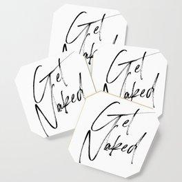 Get Naked, Home Decor, Printable Art, Bathroom Wall Decor, Quote Bathroom, Typography Art Coaster