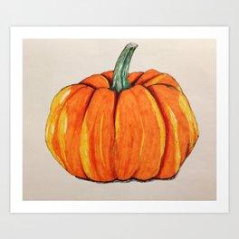 Pen & Ink Pumpkin Art Print
