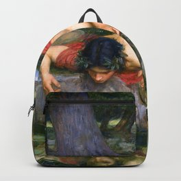Echo And Narcissus WM Waterhouse Backpack