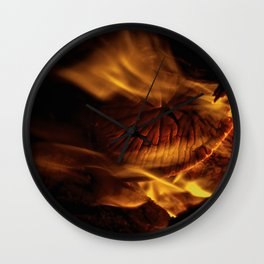 Weekend Campfire Wall Clock
