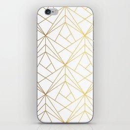 Golden Diagonal lines Pattern iPhone Skin