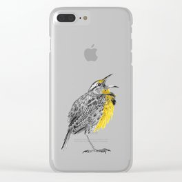 Eastern meadowlark Clear iPhone Case
