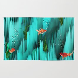 Golden Fishes Rug