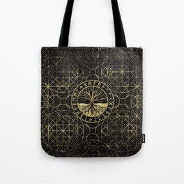Tree of life  -Yggdrasil and  Runes Tote Bag
